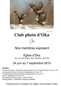 affiche exposition Club photo d'Oka